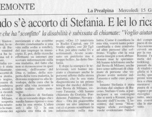 LA PREALPINA: Il mondo si e' accorto di Stefania. E lei lo ricambia.
