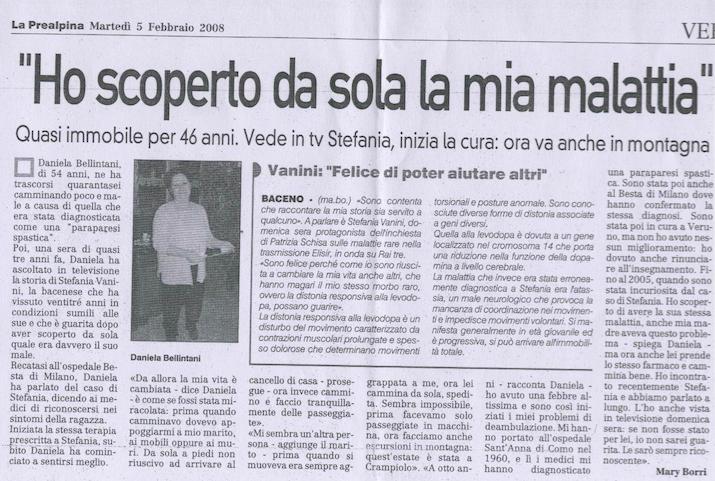 Articolo La Prealpina 5 Feb 2008
