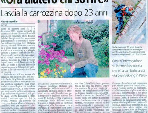LA STAMPA: Stefania Vanini, ora aiuterò chi soffre